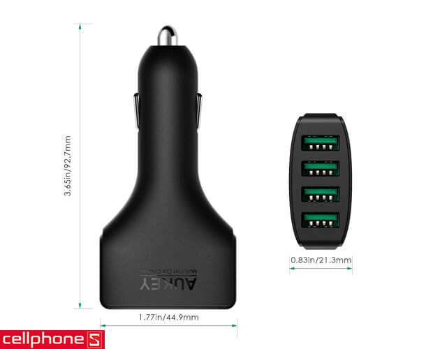 Sạc ô tô AUKEY CC - 01 4 - Port Car Charger AiPower