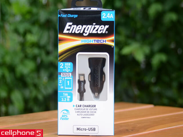 Sạc ôtô Energizer Hightech Car Charger 2.4 A DCA2BHMC3