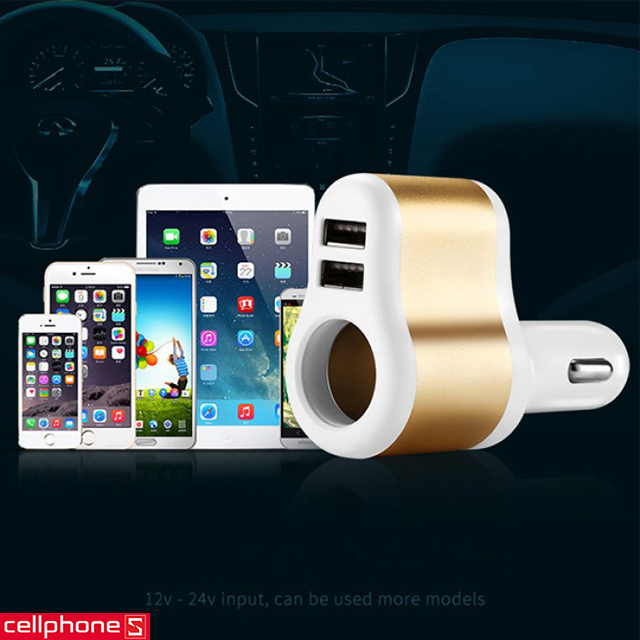 Sạc ôtô JOYROOM C-M305 Dual USB 3.1 A Car Charger