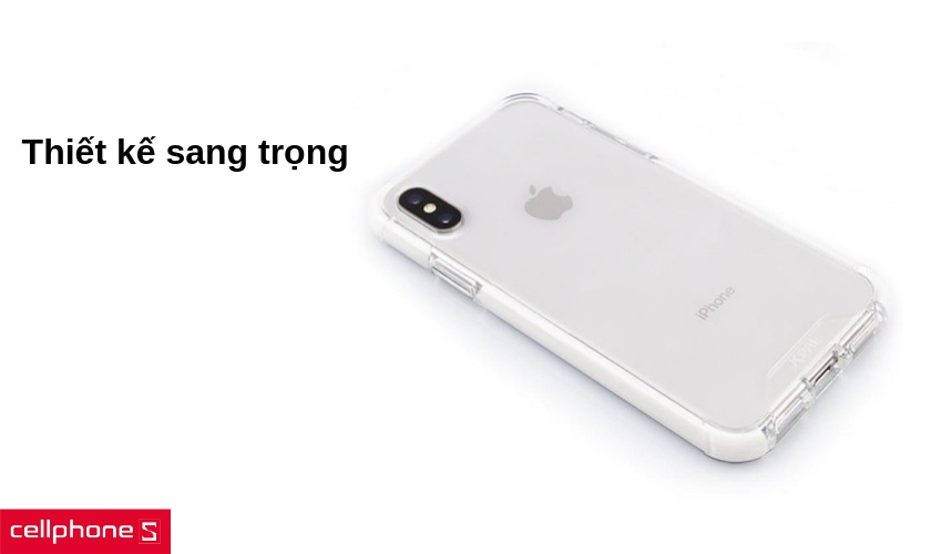 Ốp lưng cho iPhone XS - JCPAL iGuard Flexshield Glass Clear