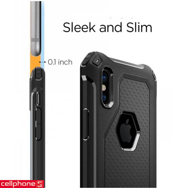 Ốp lưng cho iPhone X - Spigen Rugged Armor Extra Case