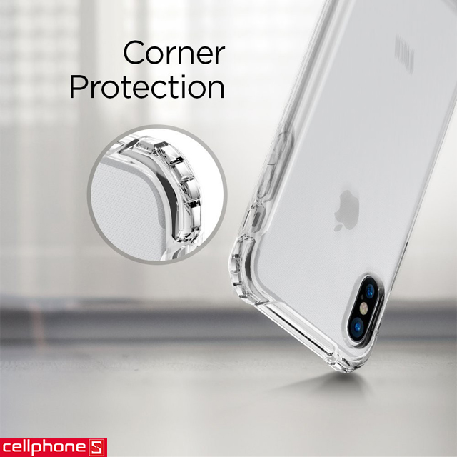 Ốp lưng cho iPhone X - Spigen Rugged Crystal Case