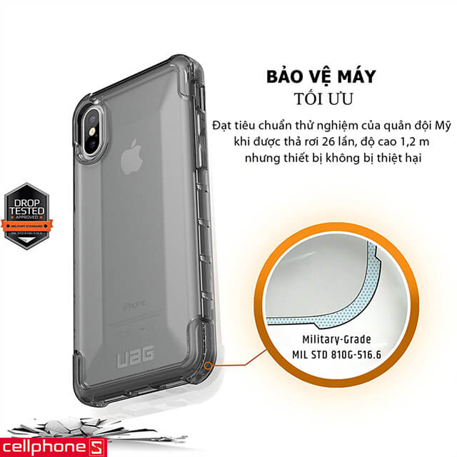 Ốp lưng cho iPhone X - UAG Plyo Series