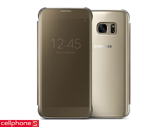 Bao da cho Galaxy S7 - Samsung Clear View Cover