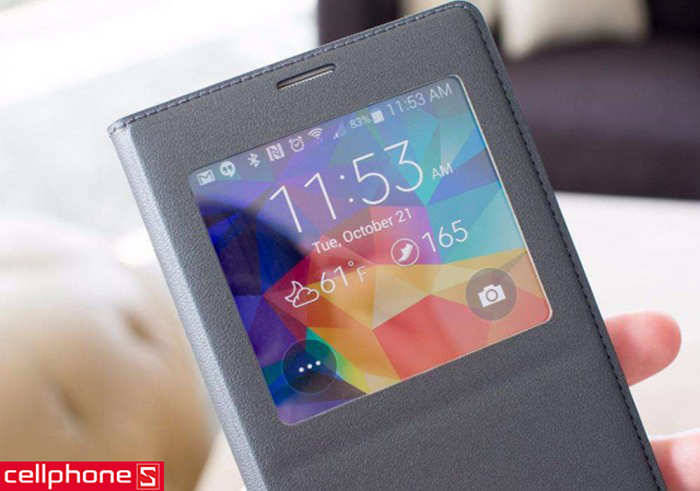 Bao da cho Galaxy Note 4 - Samsung S-View Flip Cover