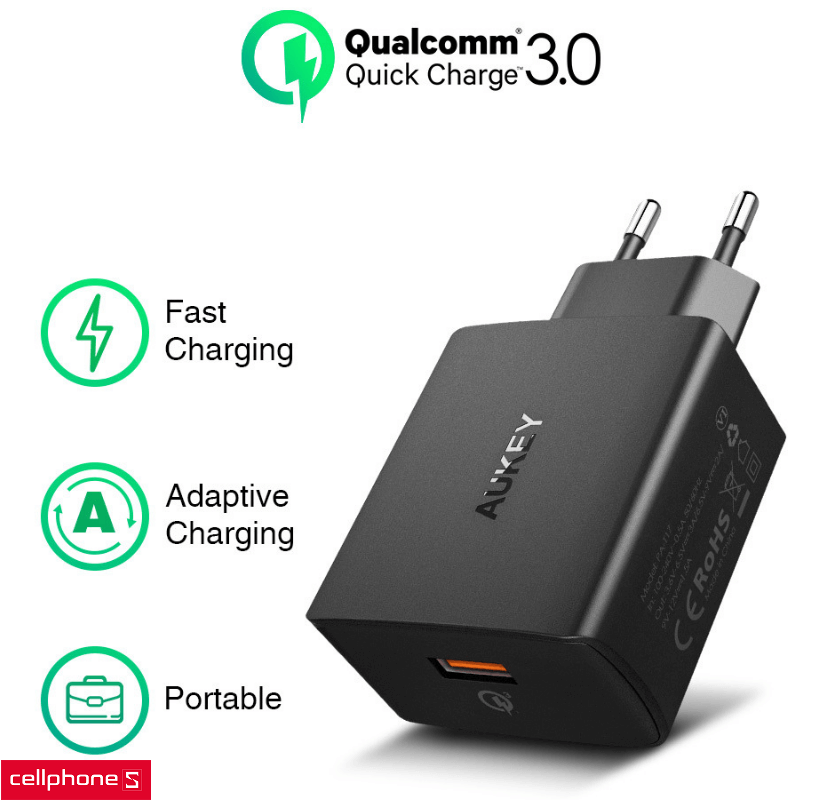 Sạc AUKEY PA - T17 Amp Wall Charger Quick Charge 3.0