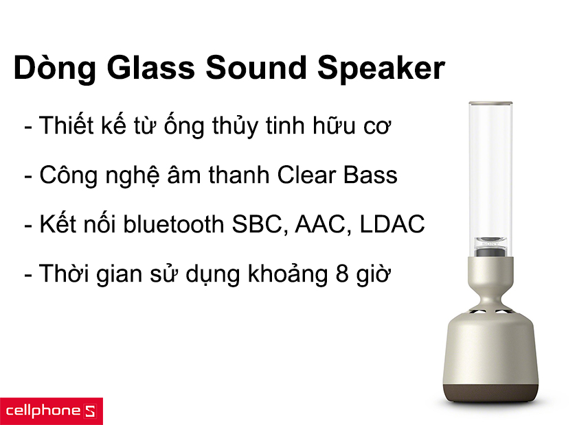 Loa sony Glass Sound Speaker
