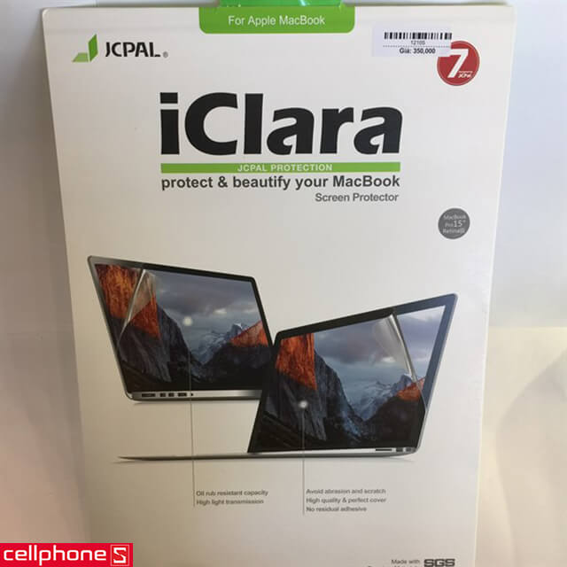 "Dán màn hình JCPal iClara MacBook Air 13"" Screen Film HT"