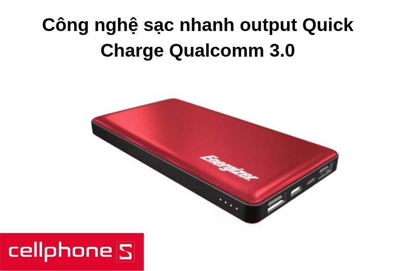 Công nghệ output Quick Charge Qualcomm 3.0