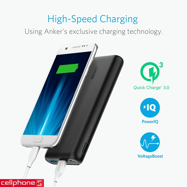 Pin dự phòng Anker PowerCore Speed 20000 hỗ trợ Quick Charge 3.0