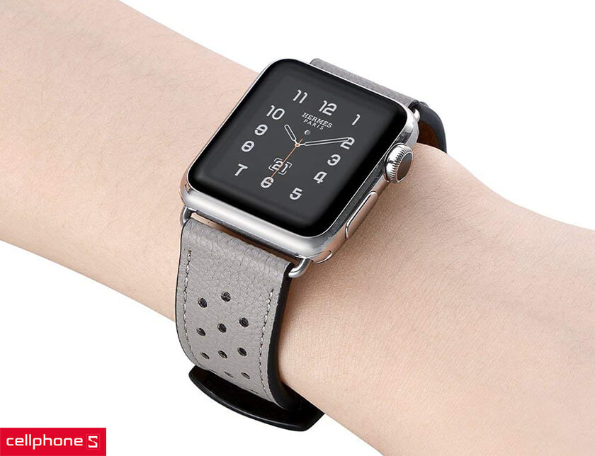 dây Apple Watch Da Jinya Vogue Leather Cao Cấp 42mm