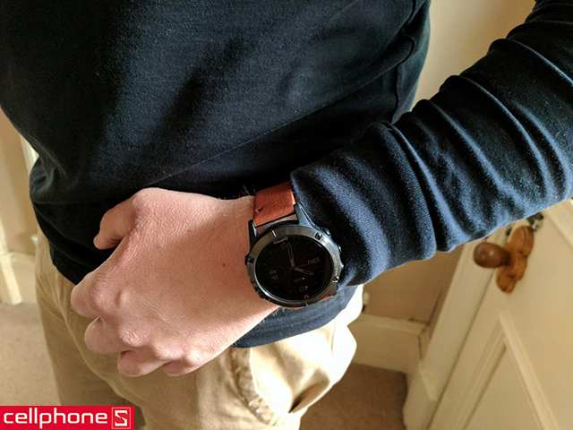 Dây đeo Garmin QuickFit 20 Suede Leather Band