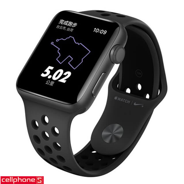 Đồng hồ thông minh Apple Watch 3 Nike+ (Plus) 42 mm Space Gray Aluminum Case Black Sport Band MQL42