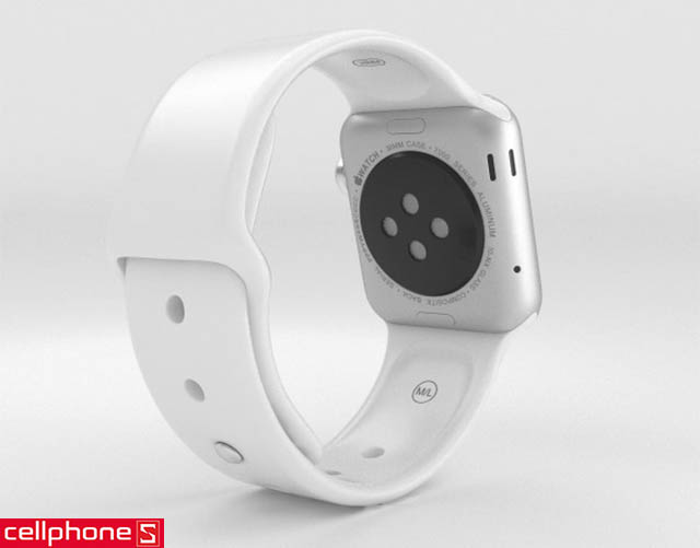 Đồng hồ thông minh Apple Watch Series 1 38 mm Silver Aluminum Case với White Sport Band MNNG2