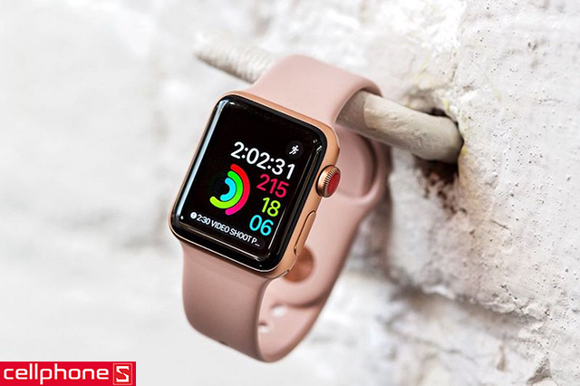Đồng hồ thông minh Apple Watch Series 3 42 mm Gold Aluminum Case with Pink Sand Sport Band MQL22 (GPS)