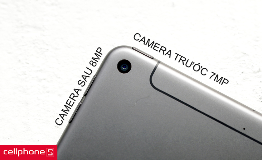 Hỗ trợ camera sau 8MP, camera selfie 7MP